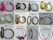 Fashion Jewelry lots 12 pairs Fashion Colorful Hoop Earrings wholesale lot  MK24