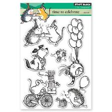PENNY BLACK RUBBER STAMPS CLEAR TIME TO CELEBRATE NEW clear STAMP