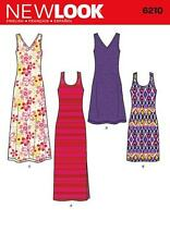 NEW LOOK SEWING PATTERN MISSES' KNIT DRESS IN 2 LENGTHS  SIZE 10 - 22 6210