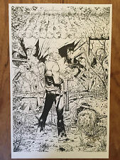 WALKING DEAD  #150   VARIANT LINE ART PRINT 11 X 17 SIGNED BY TONY MOORE!