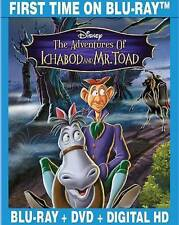 THE ADVENTURES OF ICHABOD AND MR. TOAD (Blu-ray/DVD, 2014, Disney, 2-Disc Set)