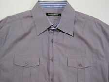Dragonfly by Edward Dada LS Button Front Shirt Contrast Flip Cuffs size XL
