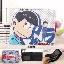 Mr.Osomatsu-san Six Same Face Blue Matsuno Karamatsu Bifold Holder Purse Wallet