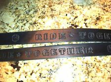 Belt Hand Tooled Rugged Holidays Badass Custom Leather Belt Chopper Biker USA