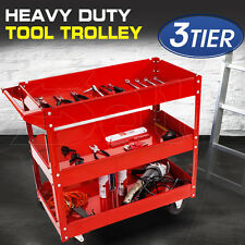 All Steel Heavy Duty Mechanic 3 Tier Tool Cart Trolley 3 Level Tray 150KG Load