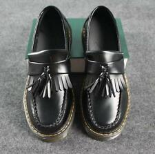 Women's Punk Gothic  Fringe Slip On Double Platform Creepers Casual Shoes Black@