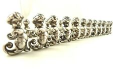 ANTIQUE FRENCH SILVER PLATE FIGURAL KNIFE RESTS SEA NYMPHS SET OF 12