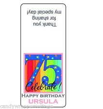 TIC TAC CANDY Labels 50th 60th 65th 70th 75th 80th BIRTHDAY Personalized