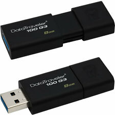 8 GB Kingston DataTraveler 100 Generation 3 USB Flash Drive DT100G3/8GB Retail