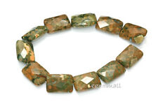"11 Rhyolite Flat Rectangle Faceted 13x18mm 7.8"" #85214"