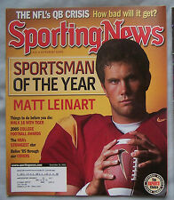 2005 SPORTING NEWS USC MATT LEINART SPORTSMAN OF YEAR