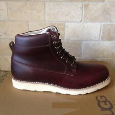 UGG GOODWIN CORDOVAN  LEATHER ANKLE LACE-UP BOOTS US 11 MENS 1007940