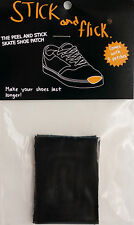 Shoe Goo alternative - Stick & Flick Patches - Black - Skate shoe repair