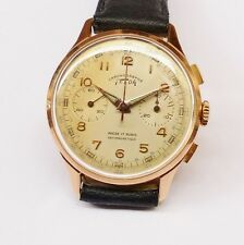 MONTRE ANCIENNE TELDA CHRONOGRAPHE OR 18K VENUS 210 - Watch