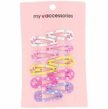 5 Pairs Girls Gift Butterfly Clorful Flowers Alloy Snap Hair Clips Hairpin Cute