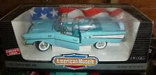 ERTL 1/18 1957 CHEVY BEL AIR CONVERTIBLE LIGHT BLUE AMERICAN MUSCLE