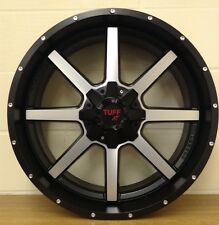 "22"" TUFF BLACK & POLISH WHEELS,5/139/150 DODGE RAM,TOYOTA AMAZON 5/150,OTHERS"