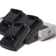 Lot de 3 batteries 18V 1500mAh pour Black et Decker ASL186K ASL188K ASL188KB