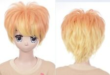 W-635 Diabolik Lovers Sakamaki Shu orange gelb yellow 32cm Cosplay Perücke Wig