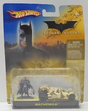 Hot Wheels Batman Begins Camo Batmobile and mini figure 2005 Mattel NIP