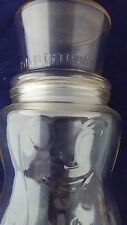 Planters Mr. Peanut Man 75th Anniversary Jar Clear Glass 9-1/2 inch canister