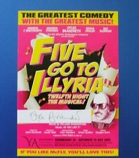THEATRE FLYER FIVE GO TO ILLYRIA SIGNED BY GYLES BRANDRETH