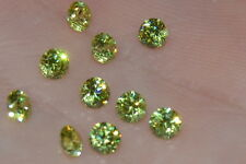 ***Flawless***3mm IF Brilliant Cut Simulated Apple Green Diamond