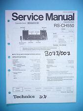 Service Manual-Anleitung für Technics RS-CH550,ORIGINAL