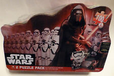 New Disney Star Wars KYLO REN & STORMTROOPERS 2 Puzzle Pack  w/ Collectible Tin