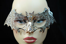 Silver Laser Cut Metal Bat Venetian Masquerade Porm Wedding Ball Party Mask
