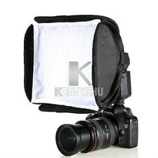 Portable 23x23cm Camera Speedlite Flash Light Soft Box Diffuser For Canon Nikon