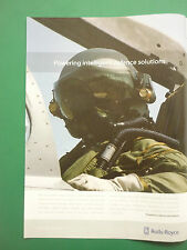 11/2006 PUB ROLLS-ROYCE MILITARY ENGINES HELMET CASQUE AVIATION ORIGINAL AD