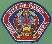 POWAY CALIFORNIA FIRE DEPARTMENT PATCH