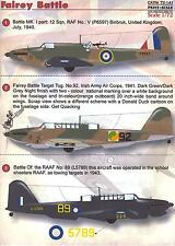 Print Scale Decals 1/72 FAIREY BATTLE British WWII Bomber