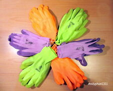 Lot: 6 Pair Wells Lamont Premium Nitrile Coated Women's Garden Gloves One Size