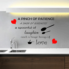 Kitchen Wall Quote Spoonful Of Love Vinyl Sticker Transfer Decal Decor WS22