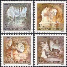 Hungría 1989 Cuevas/Formaciones Rocosas/lagos/Geología/Historia Natural 4v Set (n45194)