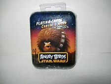 Angry Birds Star Wars Deck Of Playing Cards In Collectible Tin 3D Bonus Card New