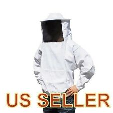 Professional Cotton Full Body Beekeeping Bee Keeping Suit,with Veil Hood,Groves