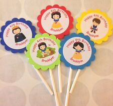 Baby Snow White Customized Cupcake Toppers 12 Count
