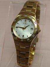 CITIZEN ECO DRIVE E011 TWO TONE DIAMOND BEZEL WOMEN'S WATCH