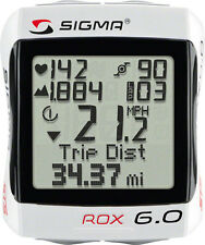 Sigma ROX 6.0 HRM Bike Cyclometer Computer Wireless Speed, Heart Rate, Altimeter