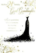 On Your 21st Birthday Great Granddaughter Dress Design Happy Birthday Card