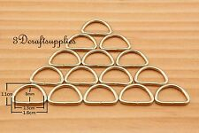 d ring d-rings purse ring Webbing Strapping metal light gold 1/2 inch 40pcs i68