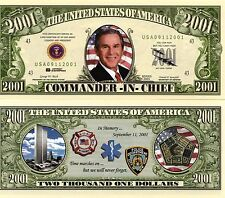 George Bush - Commander-in-Chief 2001 Novelty Money