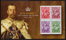 AUSTRALIA 2014 GEORGE V CENTENARY OF STAMPS MINISHEET FINE USED