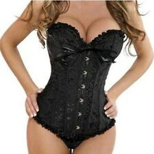 Womens WEDDING Corset Waist Training Brocade Boned Bridal Bustier PLUS SIZE S-6X