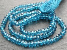 "NEON APATITE RONDELLES, 3.5mm, 13.5"" strand, 140 beads"