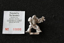 Warhammer 40k Space Marines Lieutenant Rogue Trader Era Metal Figure Beaky OOP