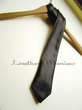 schwarze Lederkrawatte Krawatte aus Leder leather tie